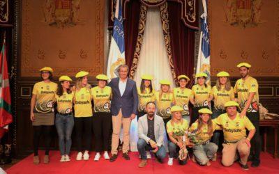 Recibimiento en la Diputación Foral de Gipuzkoa a las ganadoras de la #Kontxa