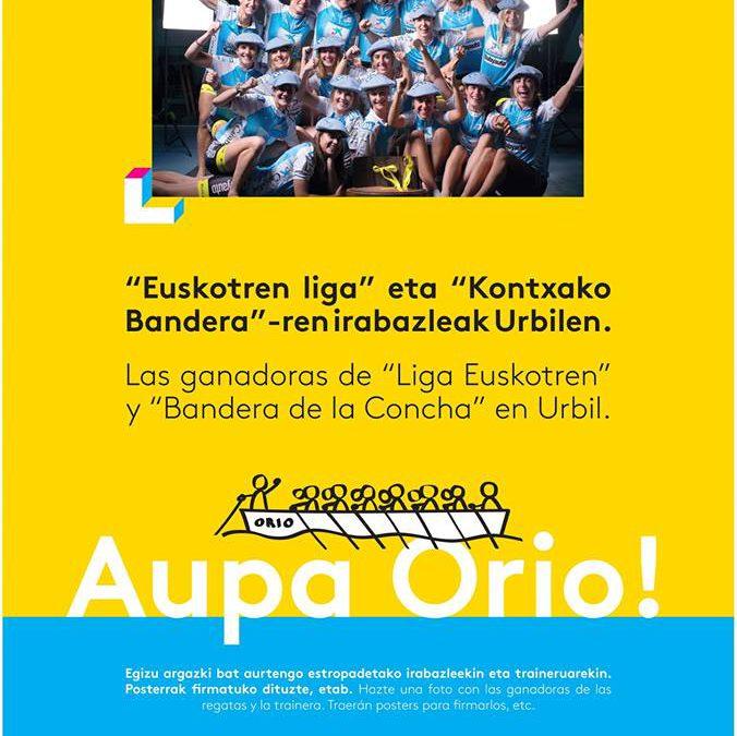 La Trainera femenina de Orio AE estará en Urbil!!