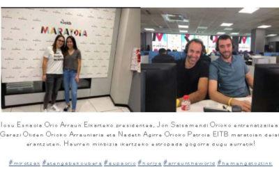 Orio Arraunketa Elkartea participa en el maraton contra el cancer infantil que organiza EITB!!